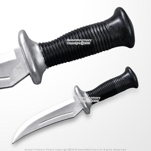 "Functional Polypropylene Rubber 11"" Martial Arts Combat Tactical Training Knife"