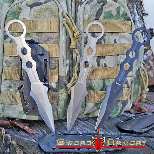 Tactical Fighting Blade Combat Dagger, Kydex Sheath
