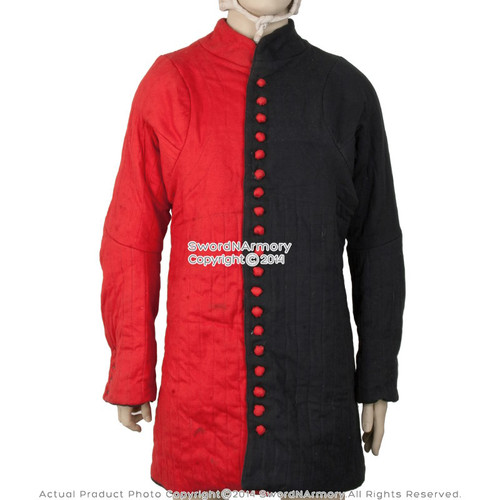 Black & Red WMA Gambeson Type 6 Arming Doublet Overcoat SCA LARP Reenactment