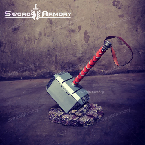 Scale Full Metal Hammer Video Game Replica, Custom Cosplay Hammer Collection Model Toy ( Include Stand Base)