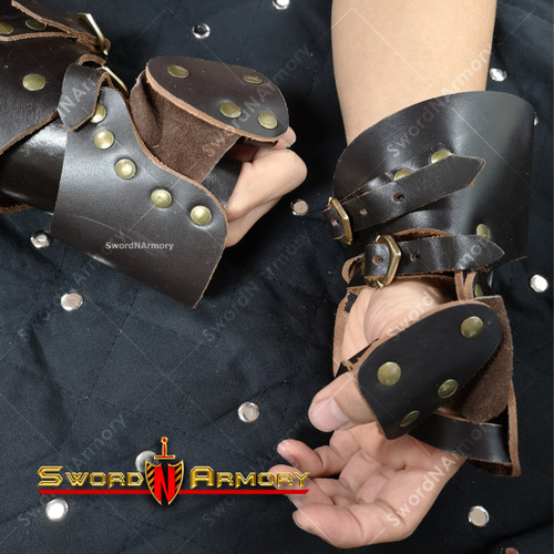 Medieval Leather Gauntlets