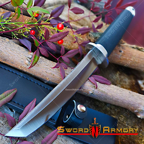 """12 1/4"""" Tactical Tanto Fixed Blade With Rubbrt Handle"""