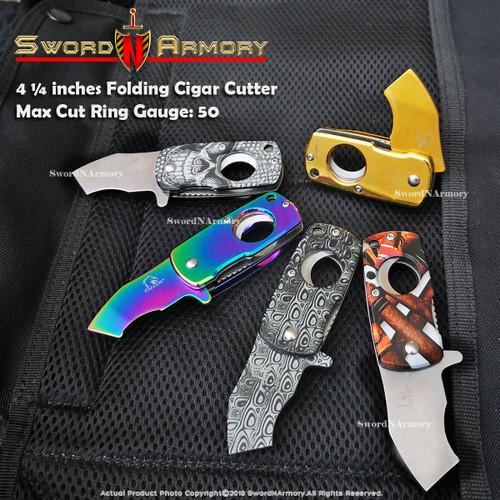 Folding Cigar Cutter , Max Cut Ring Gauge: 50