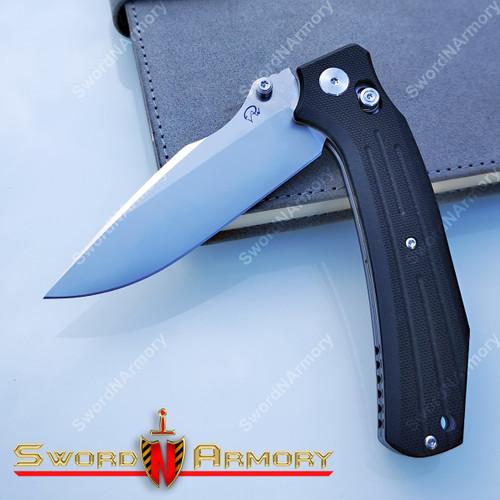 Pivot Axel Lock D2 Steel Blade, Folding Pocket Knife