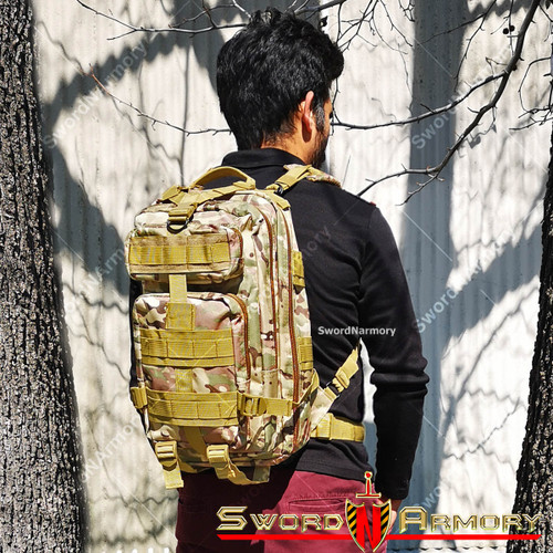 Military Assault Pack, Hydration Bladder Compartment   Army Backpack for Hunting Hiking & Travel