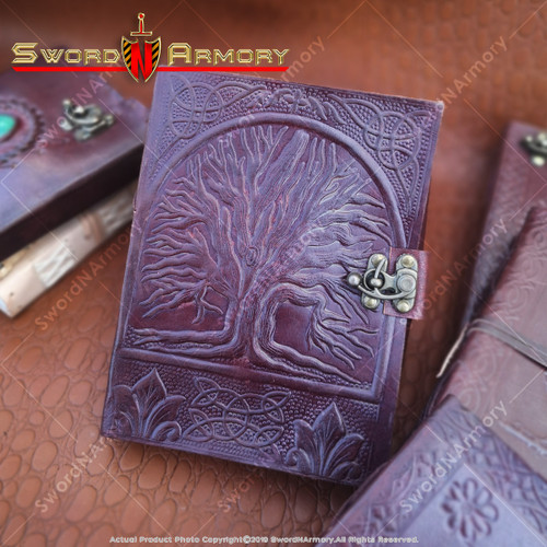 Medieval Renaissance Leather Journal Notebook Diary Tree of Life Embossed Cover