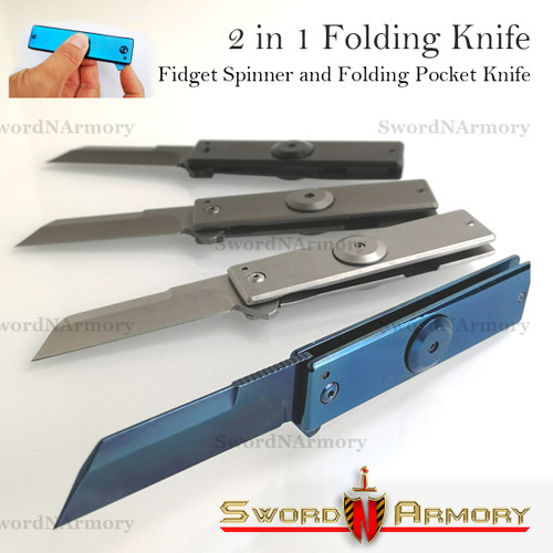 FIDGET SPINNER Folding Pocket Knife