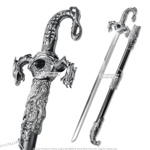 Saint George Dragon Saber Medieval Knight Sword Metal Scabbard Game Of Thrones Knives, Swords & Blades