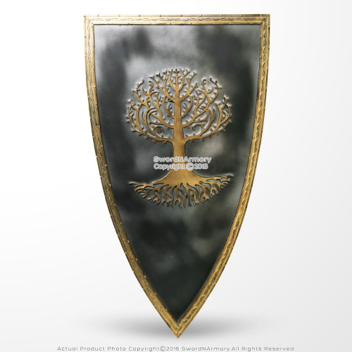 Officially Licensed Shield Snow White and the Huntsman Gold Tone Tree Emblem