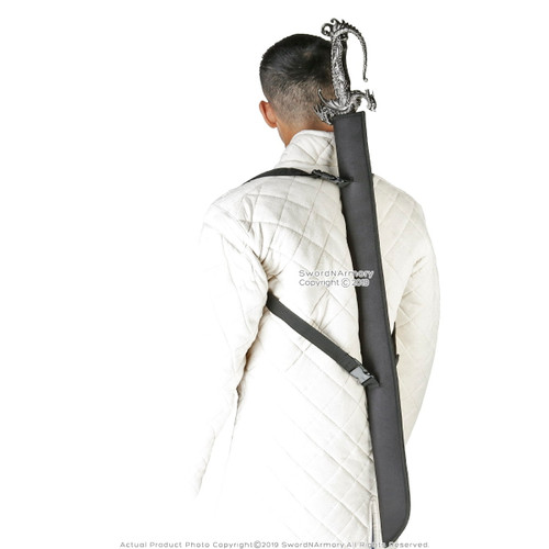 LARGE Nylon Sword Sheath Carrying Case for Katana Bokken Shinai Foam Swords