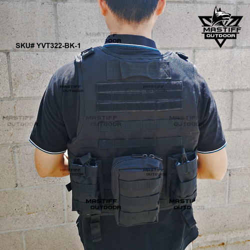 Mastiff Outdoor Tactical Vest Armor Carrier Combat Airsoft Paintball Jacket (Hook and Loop Fastener Slits)