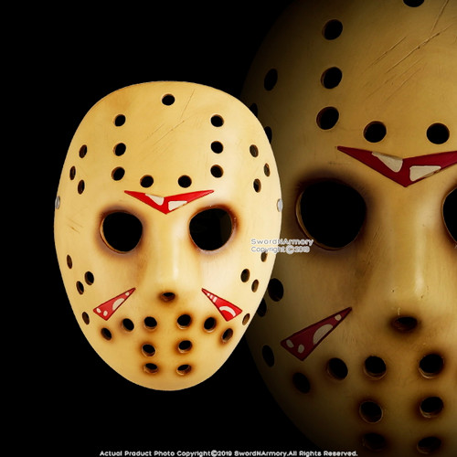 Halloween Resin Jason Mask Adult Costume Party Props Realistic Horror Movie