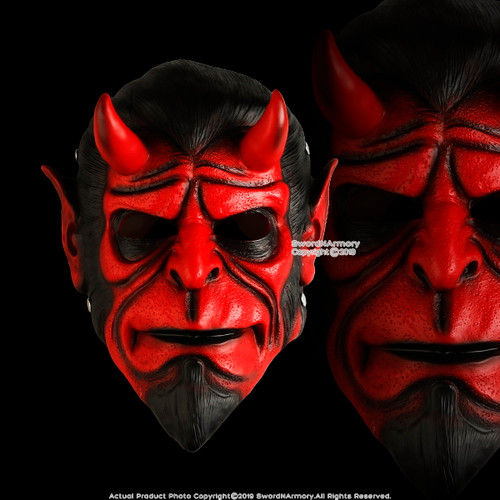 Halloween Resin Hellboy Mask Adult Costume Party Props Realistic Movie Cosplay