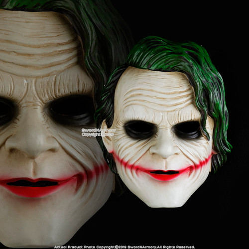 Halloween Resin Batman Joker Mask Adult Costume Party Props Realistic Movie Cosplay