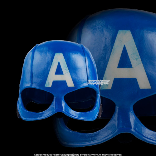 Halloween Resin Captain America Mask Adult Costume Party Props Realistic Comic Cosplay