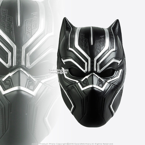 Halloween Resin Black Panther Mask Adult Costume Party Prop Realistic Comic Cosplay