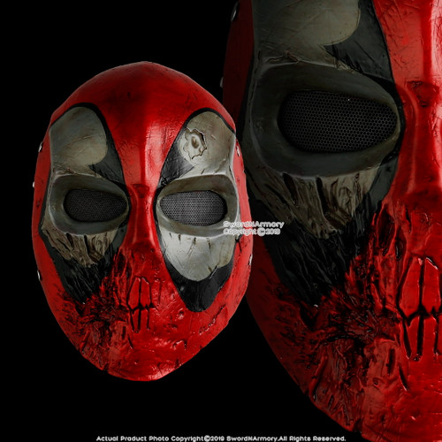 Halloween Resin Deadpool Mask Adult Costume Party Props Realistic Comic Cosplay