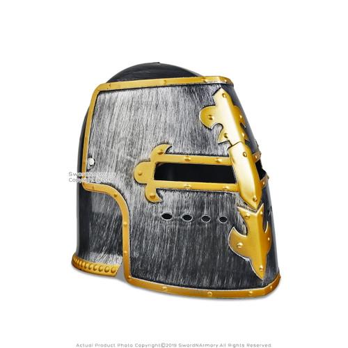 Halloween Medieval Knight Helmet Kid Teen Costume Party Props Accessory Type 1