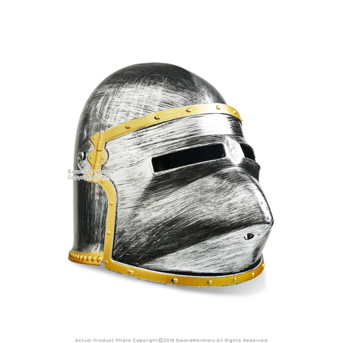 Halloween Medieval Knight Helmet Kid Teen Costume Party Props Accessory Type 2