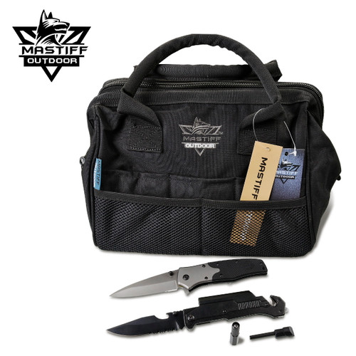 Multi-Tool Bag Wide Mouth Ammo Case Heavy Duty All Purpose Pack *Bundle*