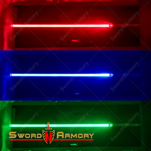 Saber Shogun Light Saber Sword with Sound 3 Colors LED Light Rechargeable Battery