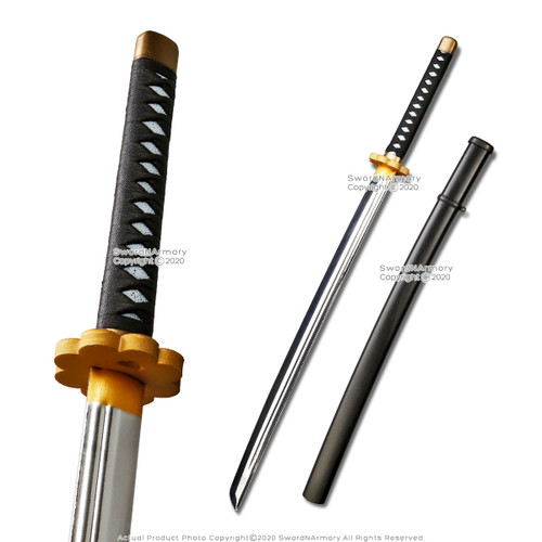 Munetoshi Fantasy Anime Samurai Katana w/ Scabbard Foam Toy Sword Chrome Blade Cosplay LARP