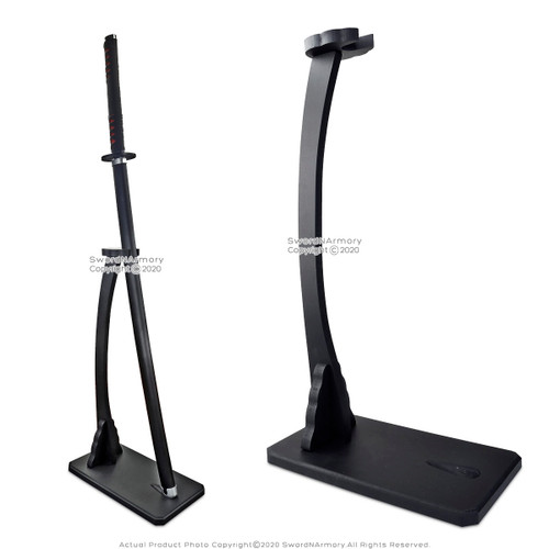 Deluxe Vertical Shogun Style Upright Kantana Stand Wakizashi Sword Display