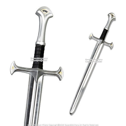 "34"" Kingly Elvin Medieval Knight Kid Foam Toy Sword Fantasy Cosplay Weapon LARP"