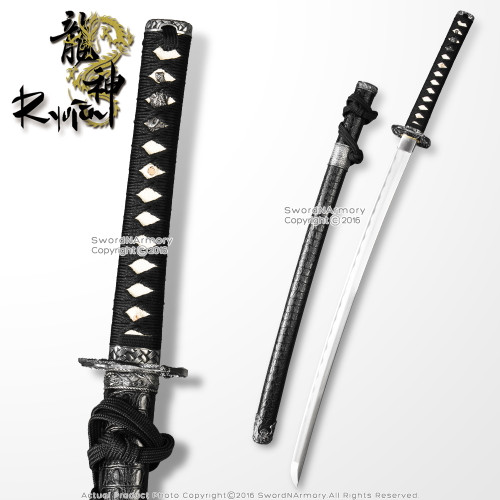 "39"" Dragon Fighter 1045 Steel Through Hardened Katana Samurai Sword Sharp Blade"