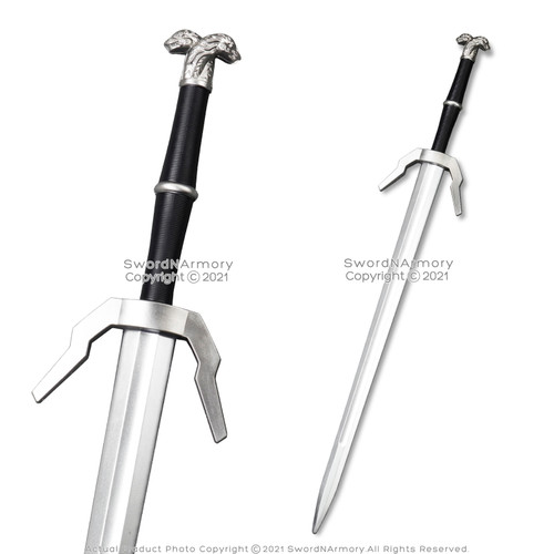 FOAM Geralt High Density Fantasy Steel Silver Long Sword Cosplay LARP Costume