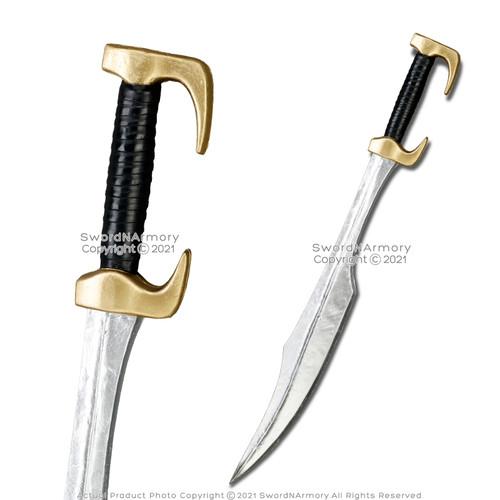 "FOAM 34"" Spartan Leonidas Sword Gold Fantasy Movie Thermopylae Cosplay LARP"
