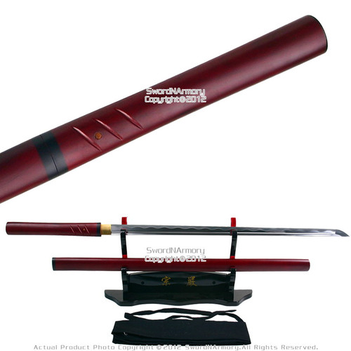 Handmade Zatoichi Straight Shirasaya Katana Shikomizue Sword Sharp
