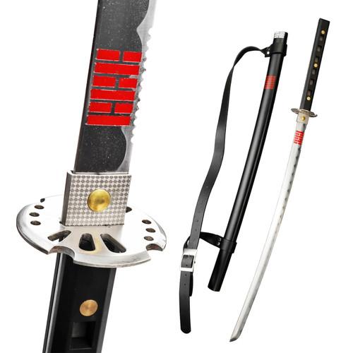"40"" Black Ninja Katana Sword Decorative Full Tang with Scabbard and Back Strap"