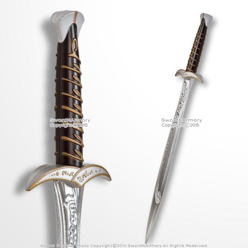 "28"" Foam Medieval Fantasy Halfling Elven Sting Short Sword Dagger Cosplay LARP"