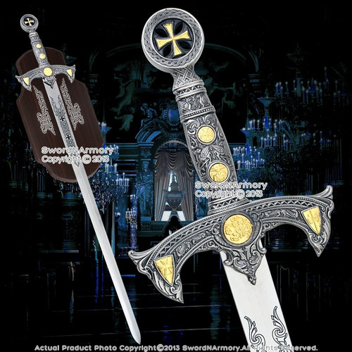"47"" Medieval 12th Century Templar Knight Crusader Sword"