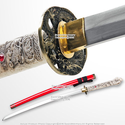 Red Open Mouth Dragon Highland Connor MacLeod Fantasy Katana Sword Replica