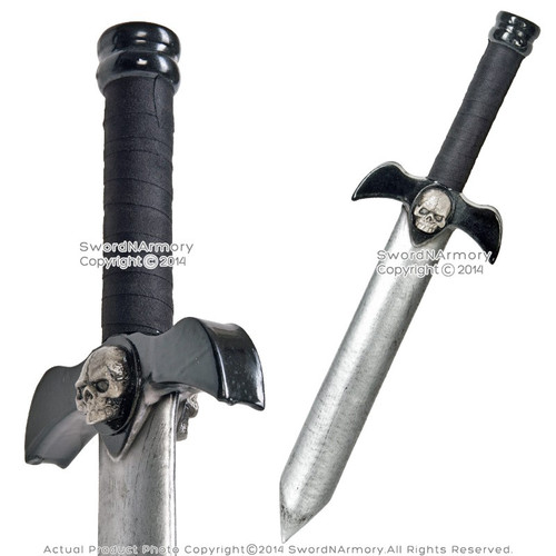 "19"" Black Demon Foam Dagger LARP Latex Short Sword Video Game Weapon Cosplay"