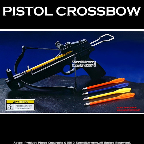 50 lbs Mini Pistol Crossbow W/ 5 Bolts Arrows
