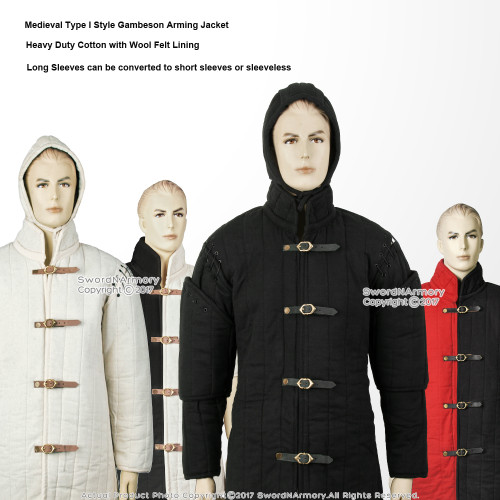 Gambeson Type I Medieval Padded Armour Coat