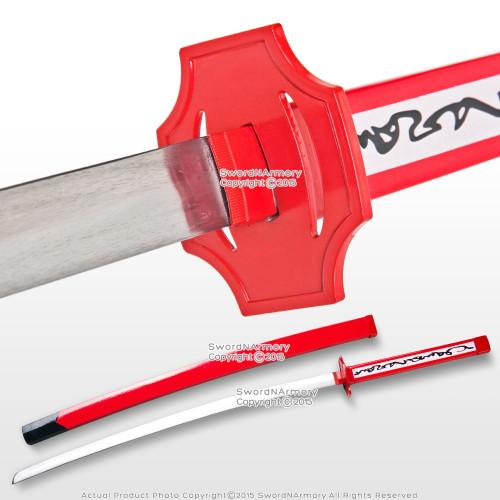 Red Fantasy Anime Samurai Katana Sword Unsharpened Vidoe Game Weapon Cosplay
