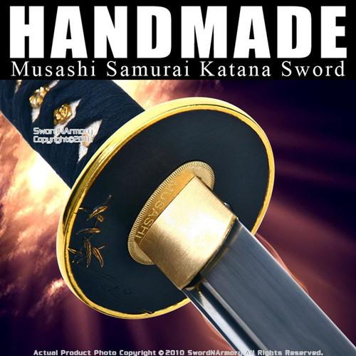 Handmade Musashi Samurai Sword Katana 1060 Carbon Steel 1