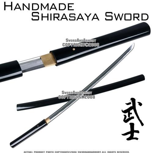 Handmade Shirasaya Katana Sword