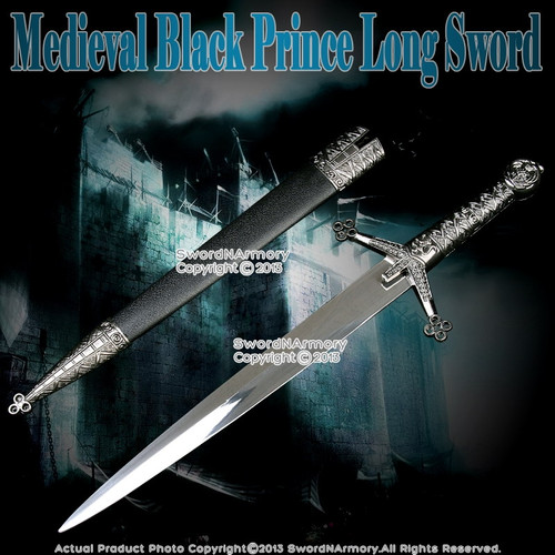 "14"" Medieval Knight Scottish Claymore Short Sword Historical Dagger with Sheath"