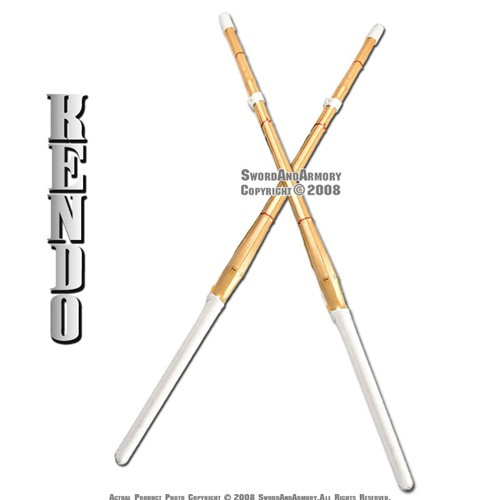 "Set of 2 44"" Kendo Shinai Bamboo Practice Sword Katana"