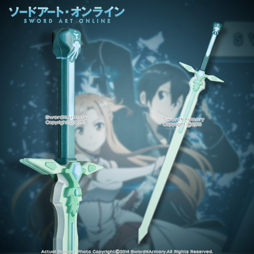"37""  Sword Art Online Licensed Kirito Green Foam Katana Dark Repulser Cosplay"