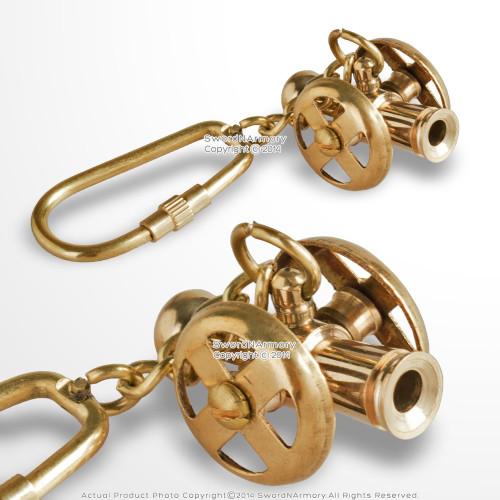 Handmade Brass Miniature Ship Cannon Keychain Keyring Nautical Gift Souvenir