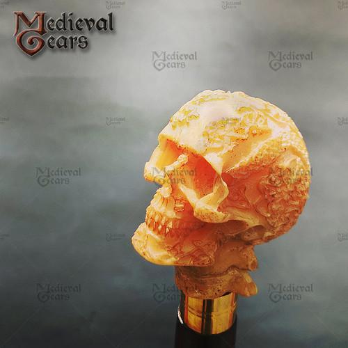 Walking Cane Fantasy Stick with Skull Head, Walking stick