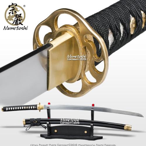 3rd Gen Munetoshi Competition Samgakdo Korean Sword Katana 1065 Heat Treat Steel