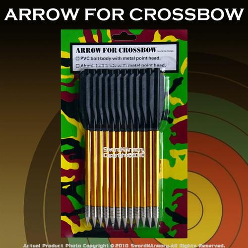 """12 PCS 6.5"""" 50LBS Aluminum Crossbow Bolt Arrows"""