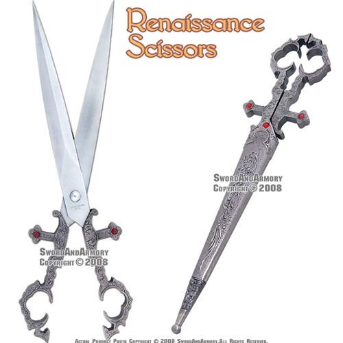 Medieval Renaissance Scissors Bodice Dagger Main Gauche Knife 1